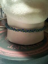 Azul Verde Kumihimo choker/necklace Color Plata Broche. actual.