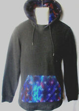MENS ON THE BYAS GALAXY STARS DARK GRAY HOODIE SWEATSHIRT SIZE L