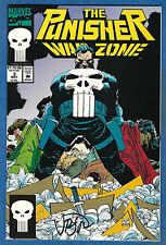 PUNISHER WAR ZONE # 3  Marvel 1992 (vf-nm) signed by John Romita Jr.