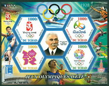 Chad MNH set - Olympic games and Pierre de Coubertin - 6 x 6val sheets + 29 s/s