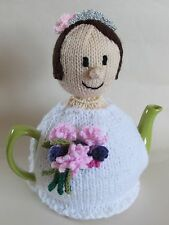 Brides Wedding Day Tea Cosy Knitting Pattern - Knit your own!