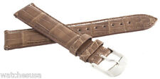 NEW Michele 18mm Womens Brown Alligator Leather Watch Band Strap