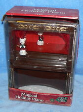 MAGICAL HOLIDAY PIANO IN ORIGINAL BOX MUSICAL LIGHT CHRISTMAS HOLIDAY SEASONAL