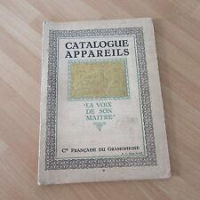 CATALOGUE PHONO PHONOGRAPHES GRAMOPHONE LA VOIX DE SON MAITRE 1924