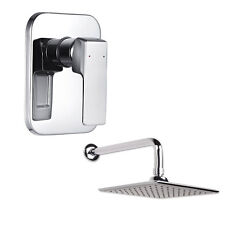 Shower Valve Concealed Thermostatic Shower Mixer With Square Fixed Shower Head