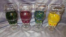 Novelty Beer Belly Pilsner Glasses 4 12 oz colorful swim trunk clad glasses