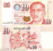 SINGAPORE 10 DOLLAR P40 1999 UNC SWIMMING TENNIS SOCCER BOAT SCOUT FOOTBALL NOTE