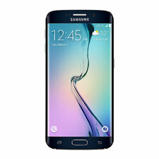 "NEW Sprint Samsung Galaxy S6 Edge SM-G925P 32GB Black Sapphire 5.1"" Smartphone"