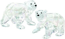 SWAROVSKI SCS POLAR BEAR CUBS CLEAR CRYSTAL BNIB #1079156 SIGNED RARE FREE SHIP