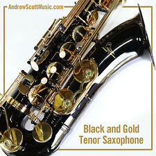 New Black Tenor Saxophone in Case - Masterpiece