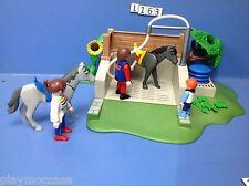 (L163) playmobil box de lavage pour chevaux 4193