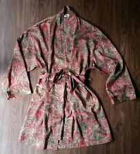 Victoria's Secret Robe Size 0/S Paisley Red Green