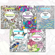 Really Relaxing Art Therapy 5 Book Set Anti Stress Colouring Collection Set ,NEW