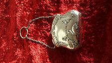 Antique anglais london 1906 silver swan et garland doigt purse