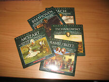LOTTO 5 CD BACH MOZART RAVEL/BIZET TSCHAIKOWSKY BEETHOVEN MASTERS CLASSIC LOR