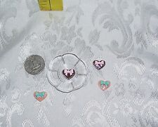 FASHION DOLL FOOD LOT OF 4 HEART SANDWICH COOKIES WITH PLATE 1/6 LITTLES