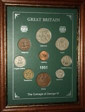 FRAMED 1951 COIN BIRTH YEAR GIFT SET VINTAGE 65th BIRTHDAY PRESENT (Rare Penny)