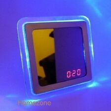 Mirror Digital LED Table Clock Alarm Sound Activated Sensor Light Trendy 219574