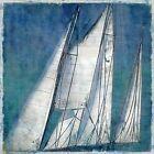 Charlie Carter: Sail away II Fertig-Bild 50x50 Wandbild segeln Segelschiff Meer