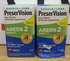 Lot of 2 Bausch + Lomb PreserVision Eye Vitamin & Mineral Supplement 180X2 (360)