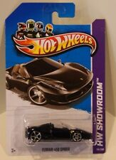 Hot Wheels 2013 HW Showroom Ferrari 458 Spider TRIPLE BLACK BASE,INTERIOR,CAR