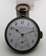 Gunmetal Swiss 47mm Open Face Quarter Repeater c. 1900 Running