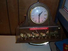 Budweiser Clydesdale Lighted Clock