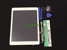 White iPad Air 1st Gen Touch Screen Glass Digitizer+Adhesive +Home Button +Tools