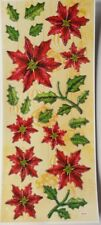 3D Dimensional Chrysanthemum Flowers Christmas Fold Stickers Scrapbook 5025