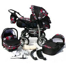 BABY PRAM + Car seat - Pushchair - 3in1 - Buggy - Stroller - Travel - carrycot