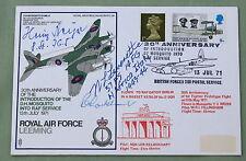 Raf leeming couverture signée par luftwaffe pilote Heinz BEYER & colonel leverette USAF