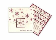 Pocket fold * SNOWFLAKE * WEDDING INVITATION INVITE INVITES STATIONERY sample