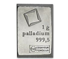1 GRAM VALCAMBI .9995 FINE PALLADIUM BULLION BAR FROM NEW SHEET OF 50