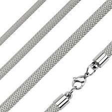 Mesh Chain Necklace Stainless Steel 22 inch length 4mm thickness