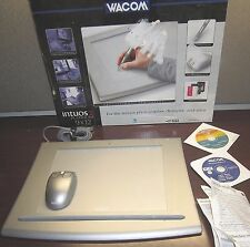 Wacom Intuos2 9x12 USB Graphics Tablet Platinum XD 912 USB Wirless Mouse