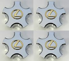 2003 LEXUS LS430 STAR CHROME CENTER CAP WITH GOLD EMBLEM COMPLETE SET OF 4