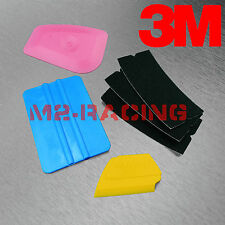 3M Blue Squeegee Lil Chizler Applicator Tools Felt Edge Decal Tips x3 Vinyl Wrap