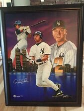 Derek Jeter Signed Deluxe Limited Edition Giclee On Canvas .The King Of New York