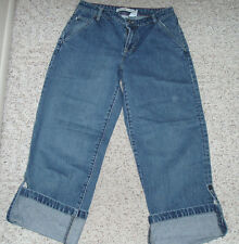 Women's Juniors TOMMY HILFIGER Blue Jean Denim Cotton Cuffed Capris/Jeans~Size 8