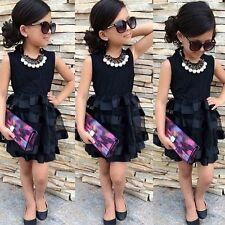 Toddler Baby Girls Flower Princess Party Tulle Tutu Dresses Outfits Sets 4-5Y