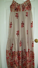LADIES DRESS by PAPAYA, UK SIZE 12, BEIGE PURPLE RED,