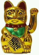 Chinese Feng shui golden Fortune Waving Lucky Cat 4.5''