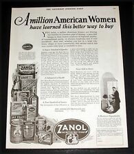 1925 OLD MAGAZINE PRINT AD, ZANOL FOOD PRODUCTS WOMEN LEARN A BETTER WAY TO BUY!