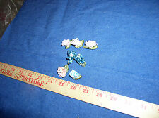 """Seven Mixed Colors Looped  1"""" Ribbon Roses With Pearls & Leaves by  Offray"""