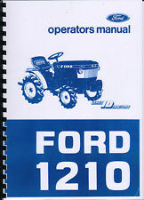 "Ford ""1210"" Compact Tractor Operator Manual Handbook"