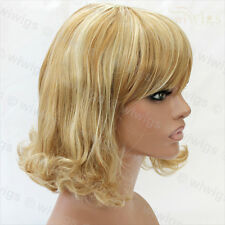 Classic Style SOFT Blonde mix Ladies Wigs skin top Medium wig WIWIGS UK