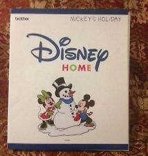 Mickey's Holiday Christmas Embroidery Designs Card For Brother Disney Machine