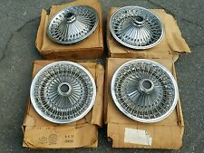 """NOS Mopar Dodge Plymouth Charger Road Runner 14"""" Wire wheel  Hubcaps 1970s"""