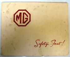 MG RANGE - Car Brochure - Oct 1938 - inc: Saloon, Foursome, Tourer, Two-seater +