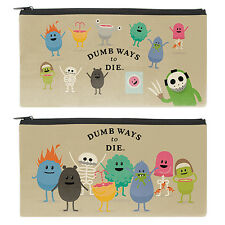 DUMB WAYS TO DIE PENCIL CASE Birthday Christmas School Work stationary Gift